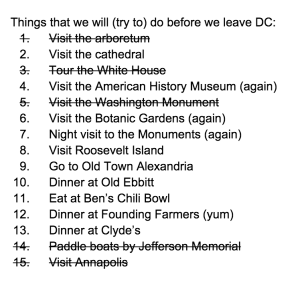 DC Bucket List