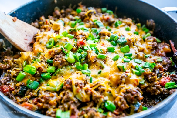 One Pot Cheesy Taco Skillet by Sweet C's Designs