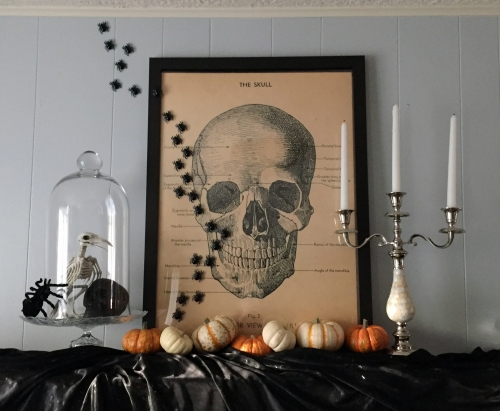 Spooktacular Soiree Fireplace Mantle halloween party