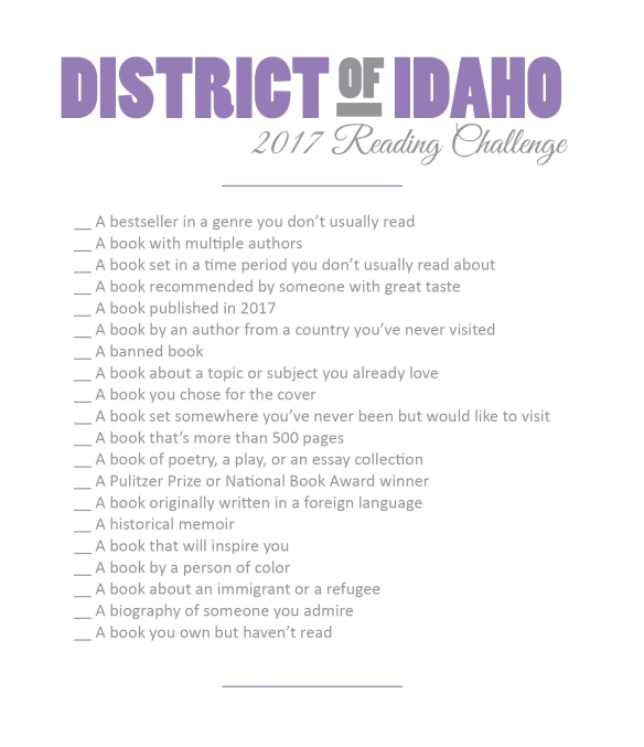 district of idaho reading challenge 2017